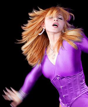 Madonna Brown Hair Rocking Still