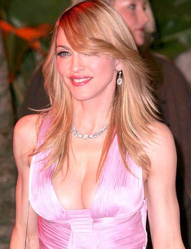 Madonna Shinning Look Still In Pink Dress