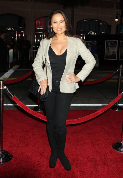 Tia Carrere In Red Carpet