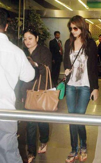 Anushka Sharma at Mumbai Airport