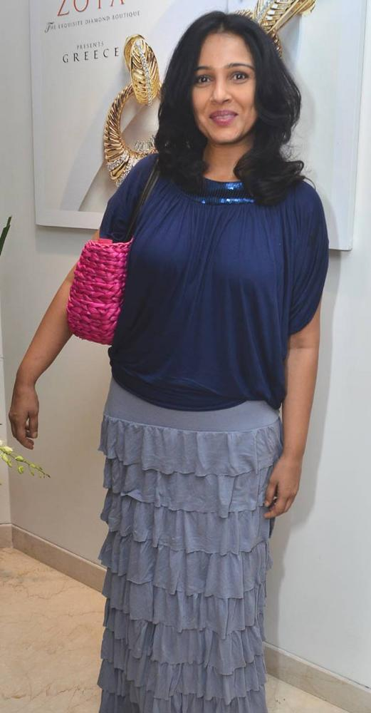 Suchitra Wear Blue Dress Glamour Look Pic