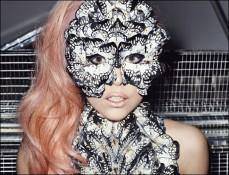Lady Gaga Wearing A Butterfly Mask