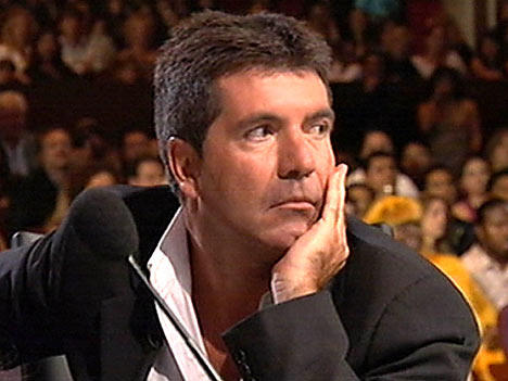 Simon Cowell In Deep Thought Pic