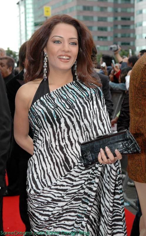 Celina Jaitley Sexy Saree Still On Red Carpet