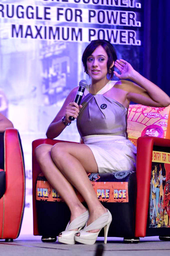 Hazel Keech Speaks During The Press Conference of Movie Maximum