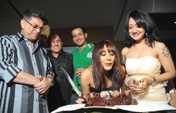 Anjali Pandey Cutting The Cake