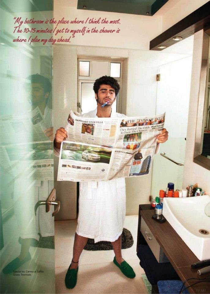 Arjun Kapoor Bathroom Photo Shoot For Filmfare