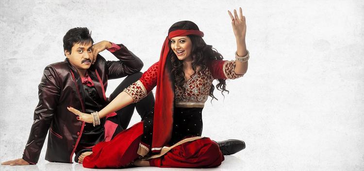Sunil And Isha Chawla  Smiling Look In Movie Mr Pellikoduku
