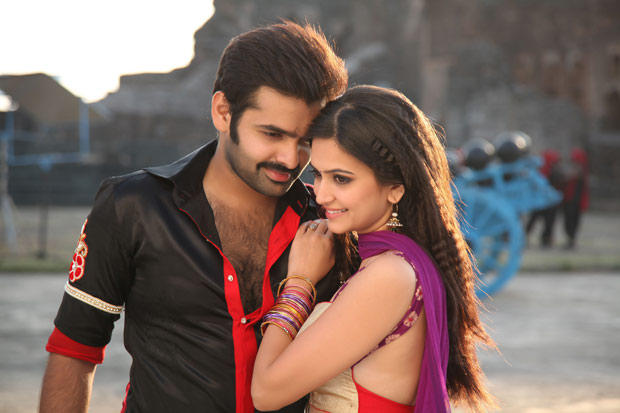 Ram Pothineni And Kriti Kharbanda Romantic Scene Still From Ongole Githa Movie