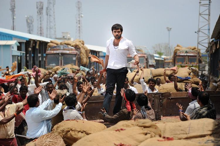 Ram Pothineni A Still From Ongole Githa Movie