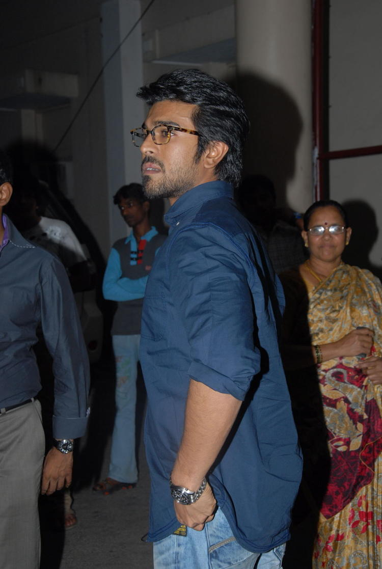 Ram Charan Looking Handsome At Nayak Movie Premier Show