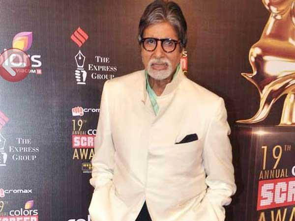 Amitabh Present In A White Suit At 19th Colors Screen Award Ceremony 2013