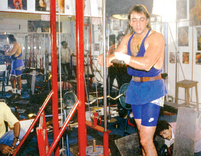 Sanjay Dutt Body Building Photo Clicked In A Gym