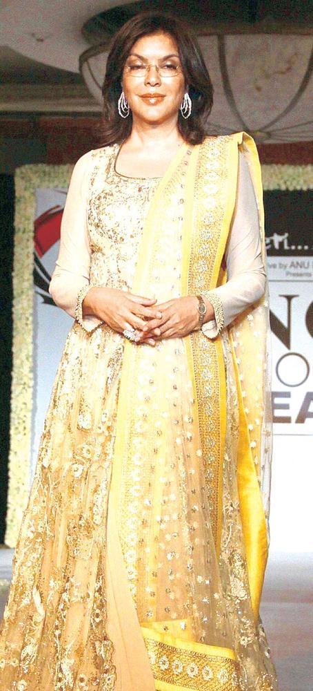 Zeenat Aman On Ramp At Beti Fashion Show