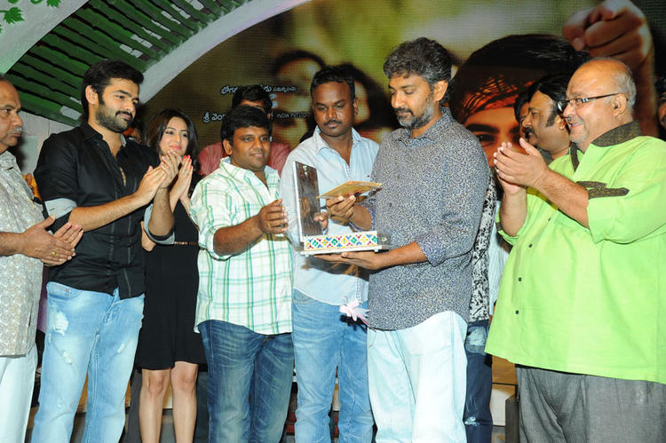 S. S. Rajamouli Launches CD And Ram,Kriti And Others Clapping Still At Ongole Gitta Audio Release Function