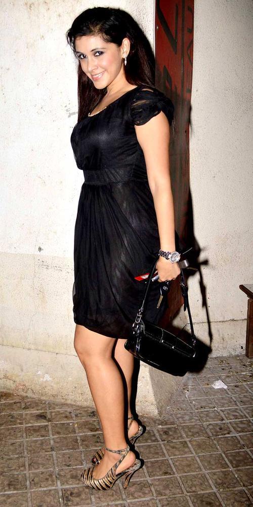 A Sexy Celeb In A Black Dress Present At Mumbai Mirror Screening