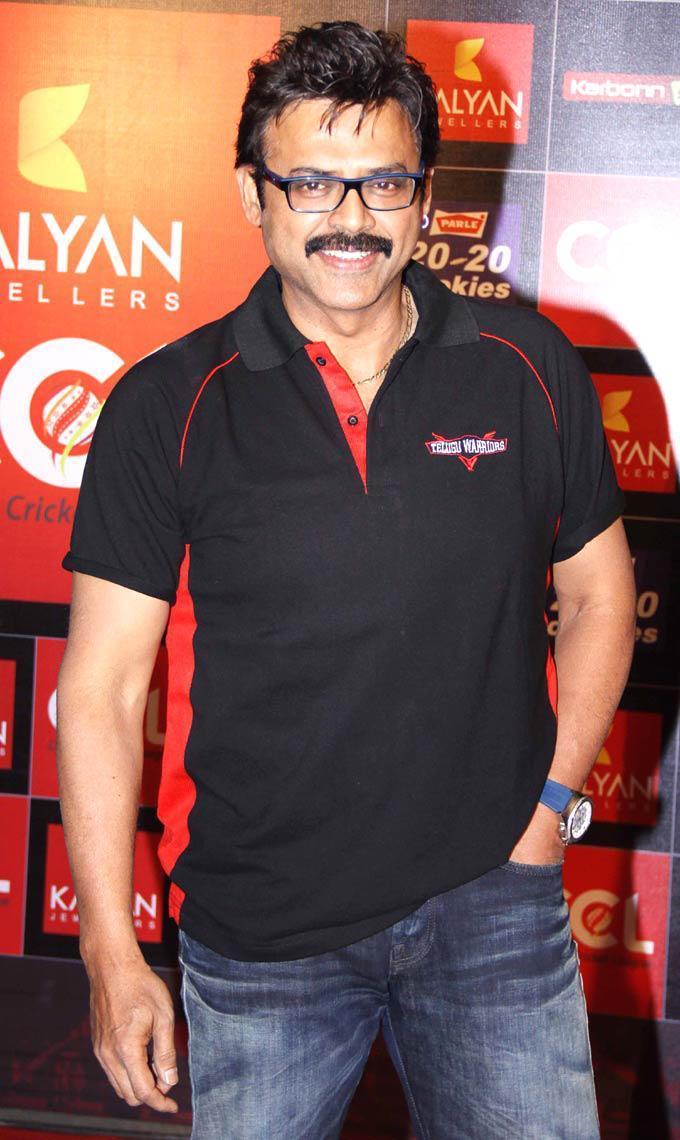 Daggubati Venkatesh Flashes Smile At The CCL Season 3 Red Carpet