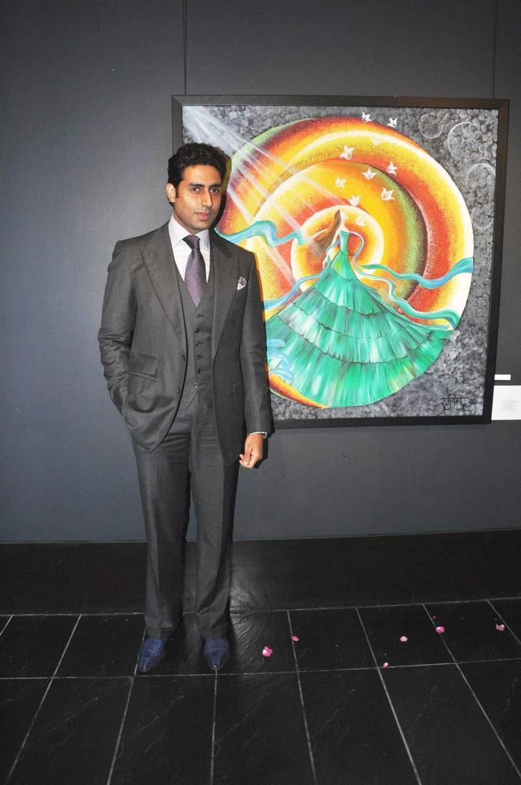 Abhishek Spotted At Art Exhibition Of Radhika Goenka