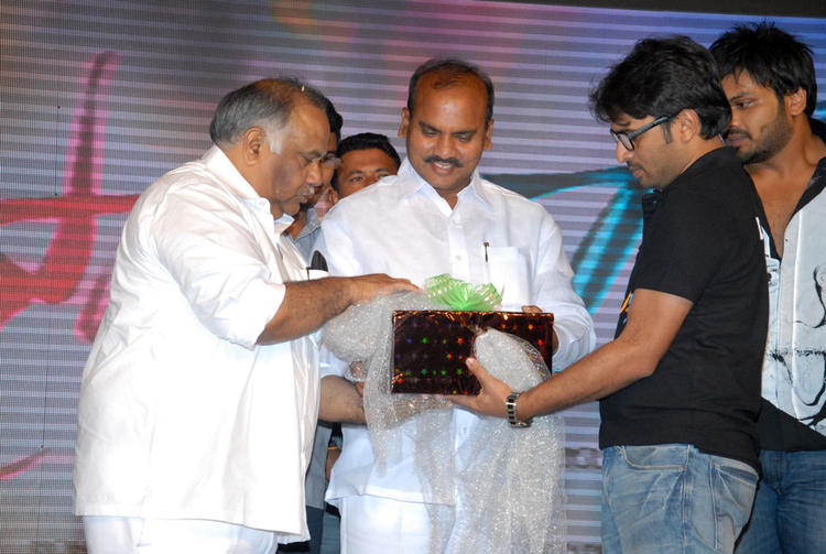 B.V.S.N. Prasad On The Stage At Swamy Ra Ra Audio Release Function