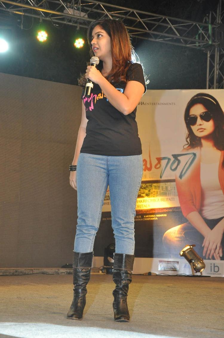 Swati Charming Look Photo Still At Swamy Ra Ra Audio Release Function
