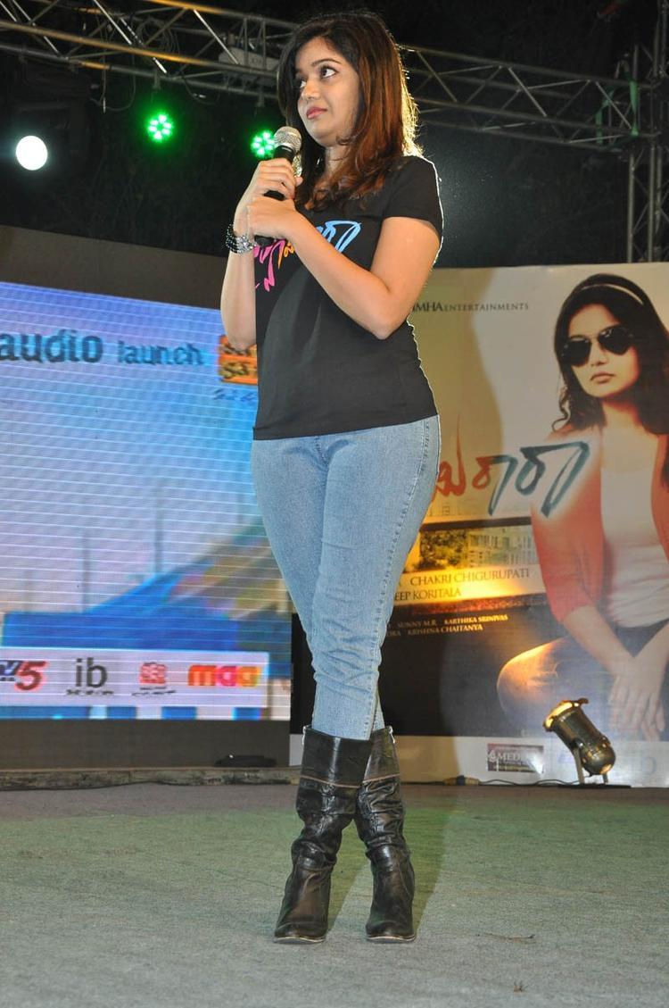Swati Reddy Elegant Look Still At Swamy Ra Ra Audio Release Function