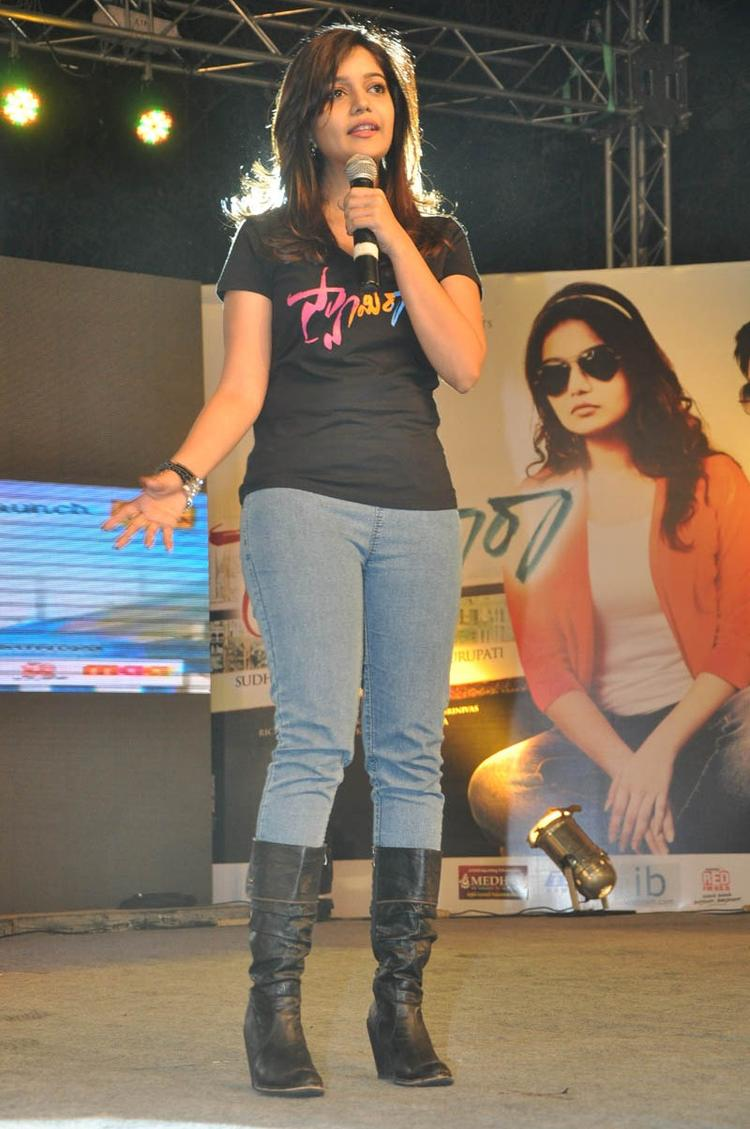 Swati Speak Out Photo Clicked At Swamy Ra Ra Audio Release Function