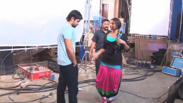 Emraan And Vidya Photo Clicked During A Shoot Of Movie Ghanchakkar