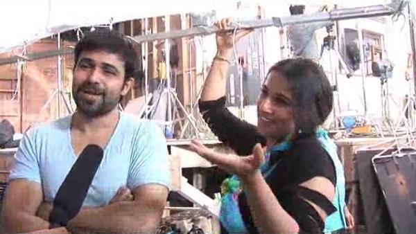 Emraan And Vidya Speak Out Photo On the Sets Of Ghanchakkar