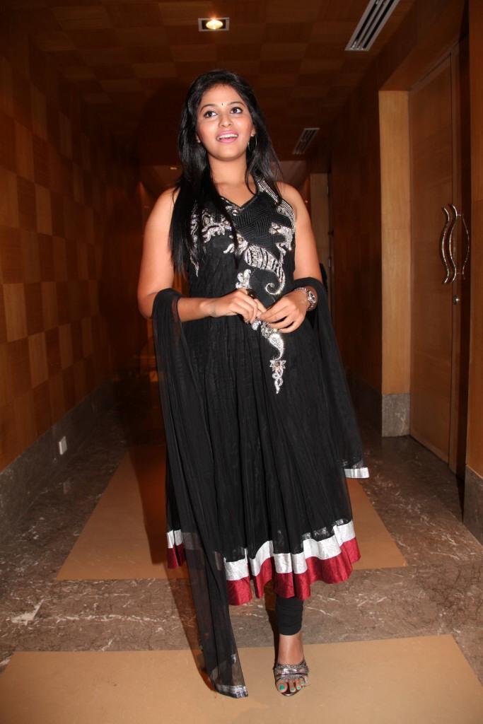 Anjali Spotted At Balupu Movie Logo Launch