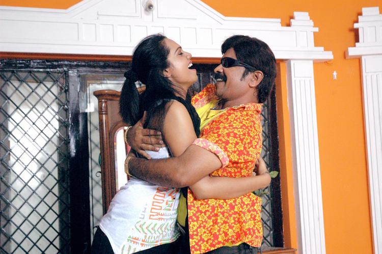Abhinayashree And Yati Raja Cool Hug Still From Pandavulu Movie