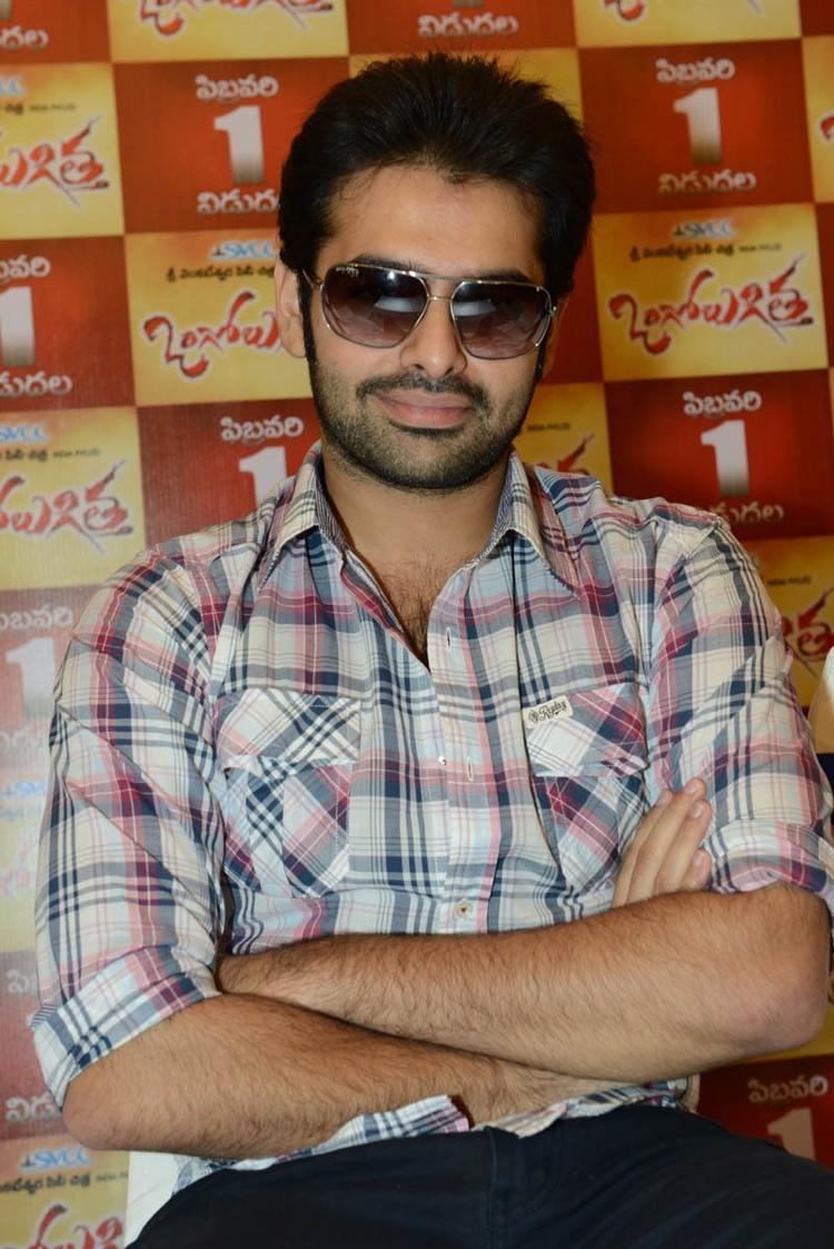 Ram Pothineni Stylish Look At Ongole Gitta Movie Press Meet