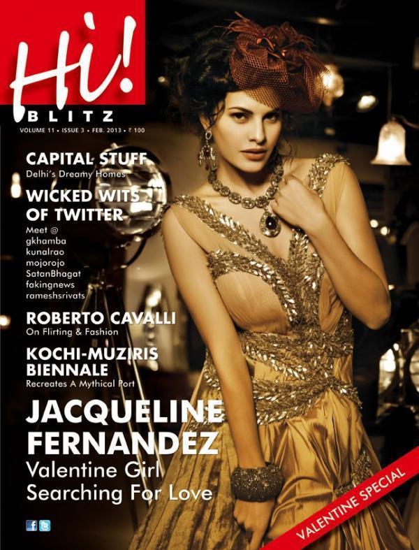 Jacqueline Fernandez Hot Look On The Cover Of Hi! BLITZ Feb 2013
