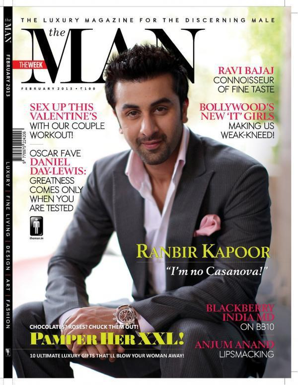 Ranbir Kapoor On The Cover Of The Man Magazine Feb 2013 Issue