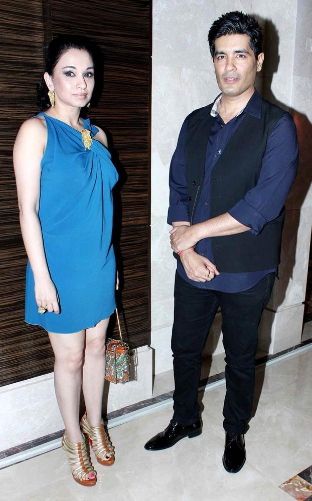 Sheetal Mafatlal With Manish Malhotra Posed For Camera At Rochele Pinto Book Launch Event