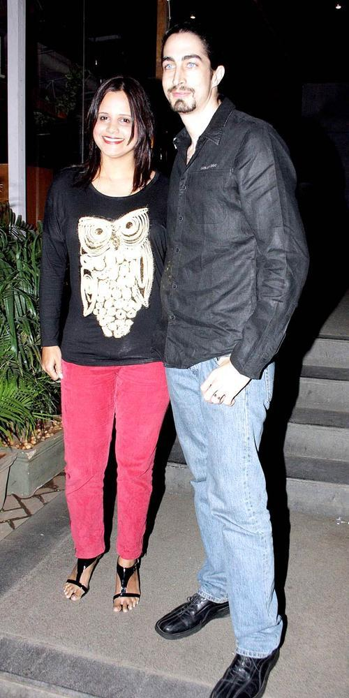 Kabir Bedi's Son Adam With Wife Nisha Posed At The Launch Of Manoj And Teejay Bohra Production House
