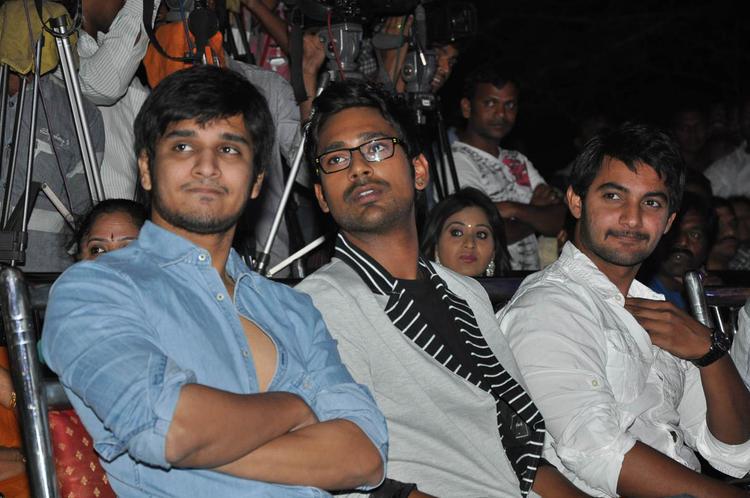 Varun,Nikhil And Aadhi Attend The Abbai Class Ammai Mass Audio Launch Function