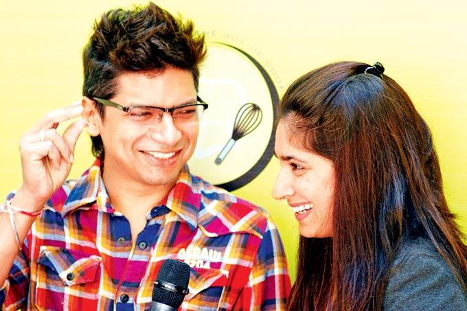 Shaan Shares A Joke With Wife Radhika At The Launch Of Palate Culinary Studio