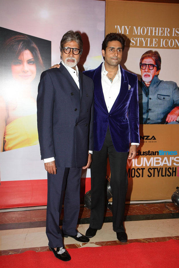 Amitabh And Abhishek Spotted At The Hindustan Times Style Award 2013