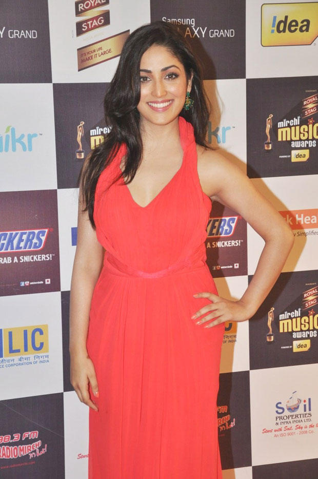 Yami Gautam Gorgeous Smiling Pose At 5th Radio Mirchi Music Awards