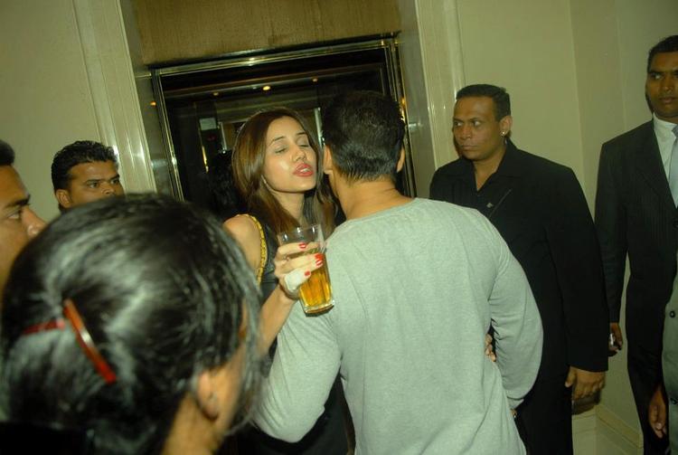 Salman Khan Hugs A Celeb Friend At Bombay Times 18th Anniversary Bash 2013