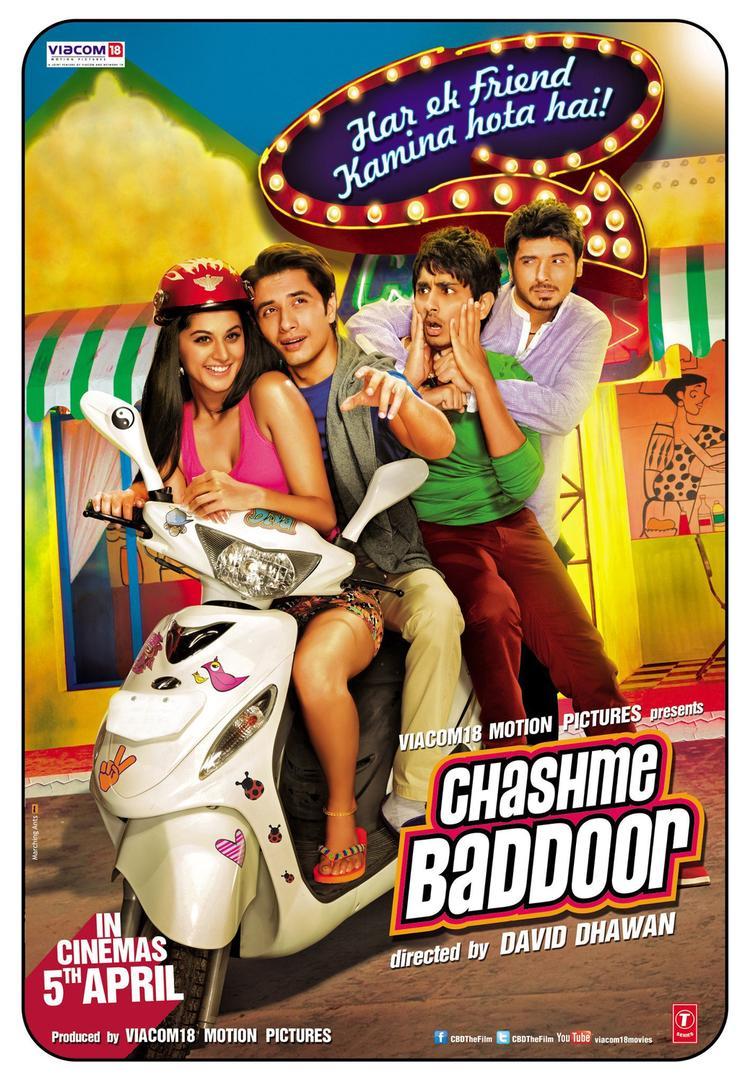 Taapsee,Ali,Siddharth And Divyendu Bike Riding Joy Still From Chashme Baddoor Movie