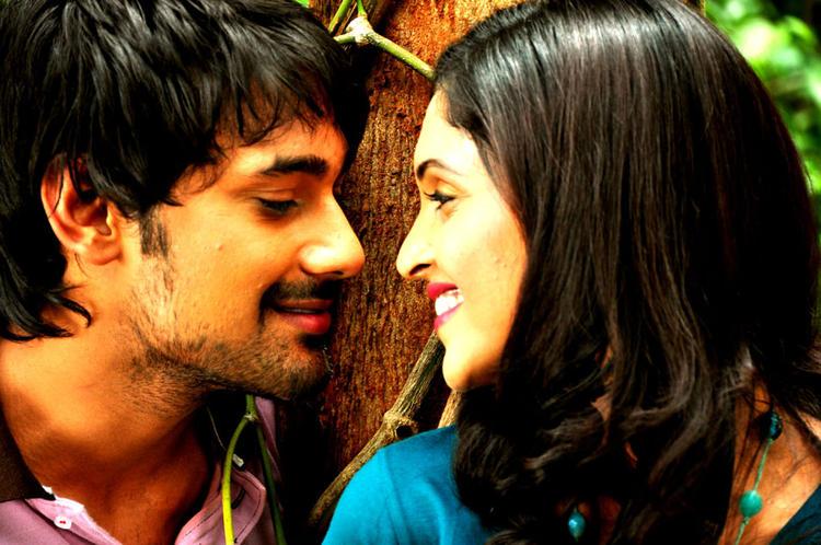 Varun And Sanchita Romance Scene Photo Still From Movie Chammak Challo