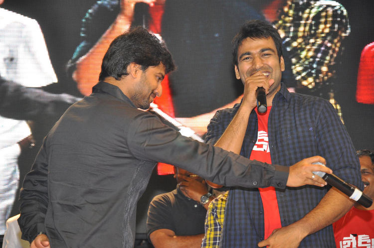 Nani With A Friend Spotted At Break Up Audio Launch