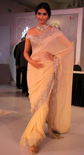 Sonam Kapoor Clicked At India International Jewellery Week 2013