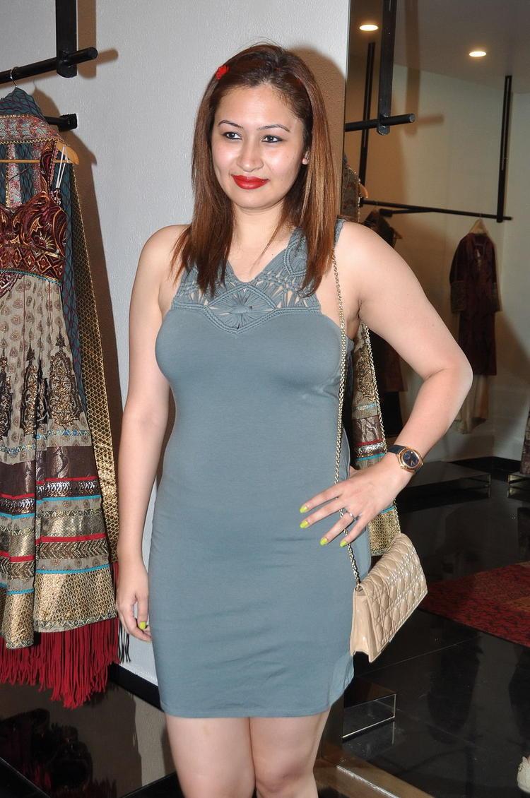 Jwala Gutta Elegant Look Photo Still In A Mini Dress