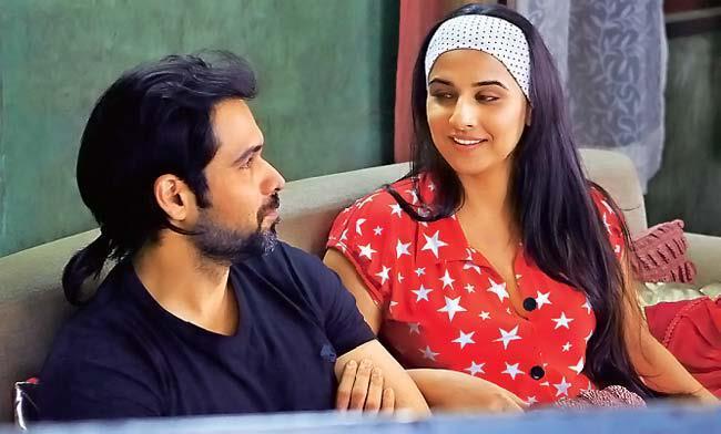 Vidya Balan And Emraan Hashmi Smiling Still From Ghanchakkar Movie