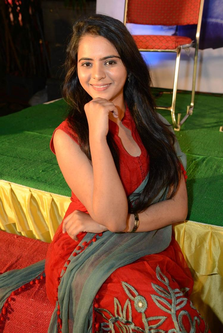 Manasa Looked Radiant And Beautiful Still At Romance Movie Teaser Launch