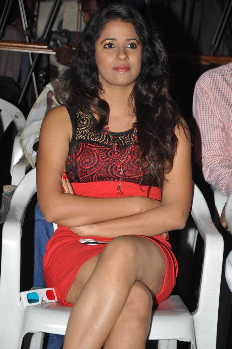 Shravya Looked Sexy At The Audio Launch Of Movie 143 Hyderabad