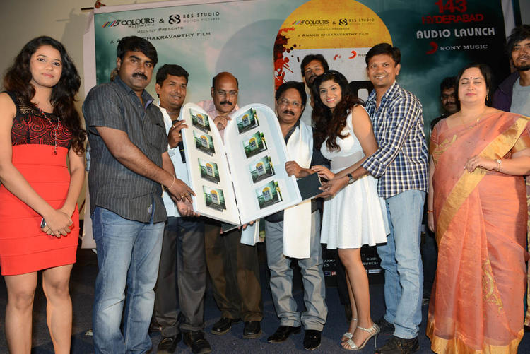 Shravya,Lakshmi,Anand And Ramesh Posed For Camera At Audio Launch Of Movie 143 Hyderabad
