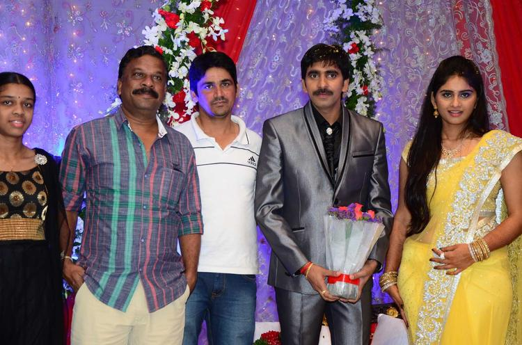 Gopichand With Celebs Pose For Camera At His Wedding Reception At Avasa Hotel